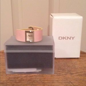 DKNY Light Pink Leather Watch